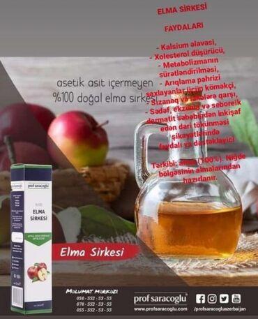Prof Saracoglu Alma sirkəsiFaydaları Kalsium əlavəsi Xolesterol