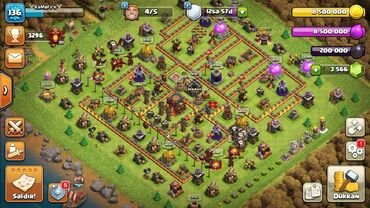 11151 elan: •Clash of clans bb10 max th+3565daş! •5 inşaatçı və O.T.T.O açılıb dig