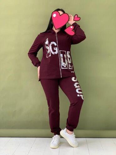 женское платье 54р в Кыргызстан: Женский спортивный костюм 48-54размер.Ткань Турция пошив Кыргызстан.Це