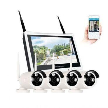 Ip камеры division с картой памяти - Кыргызстан: WiFi Комплект беспроводного IP видеонаблюдения c 4мя камерами 1080P и