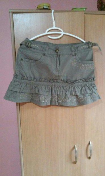 Braon sa - Srbija: Predivna braon suknja,nova,sa prelepim detaljima,veoma kvalitetan