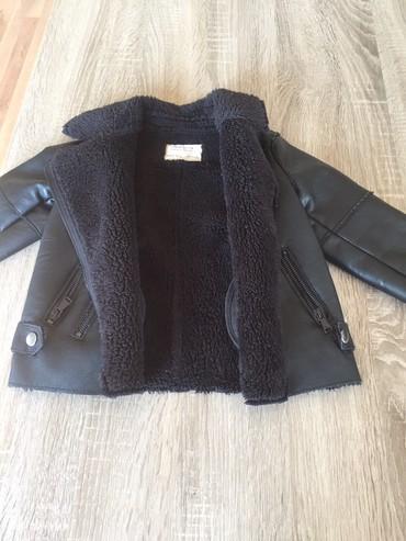 Zimska jakna sa krznom - Srbija: Zimska kozna jakna Zara vel.104 (3-4god)sa krznom veoma topla za devoj