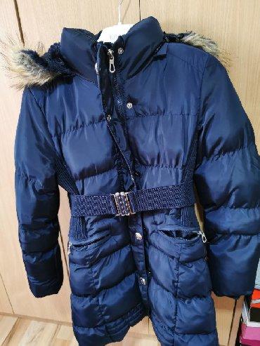 Dečije jakne i kaputi - Vrsac: Teget strukirana jaknaTopla, velicine 10(za 9-10-11godina)Ocuvana(jako