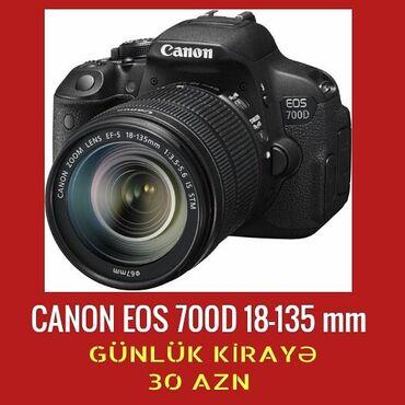 canon 4410 - Azərbaycan: CANON EOS 700D 18-135 MM Şəxsiyyət vəsiqəsi ilə - Günlük kirayə 30 azn