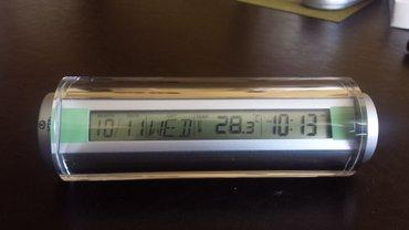 Digitalni stoni sat sa termometrom, novo        veoma - Beograd