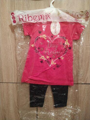Детские костюмчики футболка и легинсы хлопок 100% для девочек 3-7 лет
