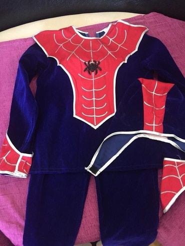 spaydermen-kostyumu - Azərbaycan: 6-7 yaşlı uşaq üçün spider man kostyumu, 1 dəfə geyinilib