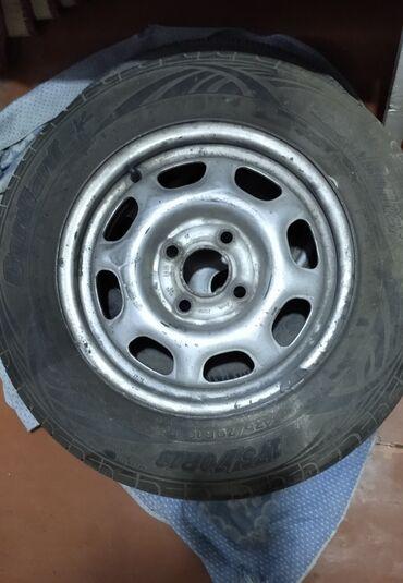 шины б у 13 радиус в Кыргызстан: Комплект колес 2 летних 2 все сезонная вместе с дисками кардиант