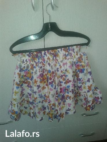 Nova pamucna postavljena suknja,pojas na lastis,karner po dnu,duzina - Valjevo