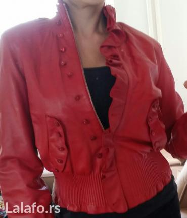 Jakna kozna crvena - Srbija: Ženska odeća