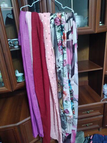 Все шарфы 7 штук отдам 250сом для покрытых класс