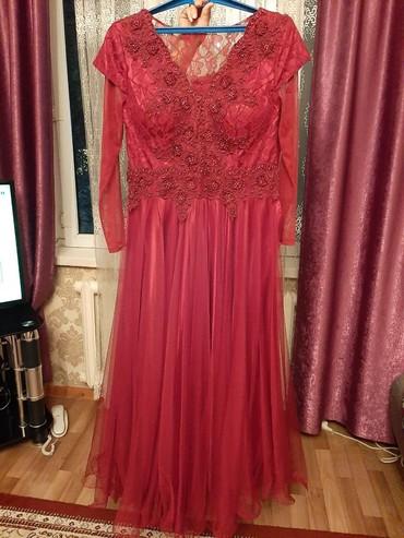 вечернее платье 52 54 размер в Кыргызстан: Новое пышное платье. Цвет марсала. 52-54 размер. Своя цена 18000