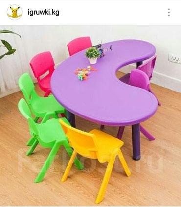 Размер стола:160×90×48см Цена:3800сом+доставка Стулья отдельно 580сом в Бишкек
