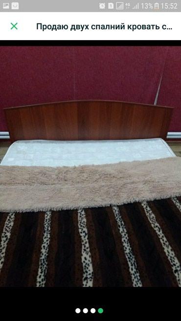 Продаю двуспальный кровать с матрасом в Бишкек