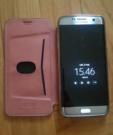 Samsung s7 edge maska cover. . gore kozna dole gumena. Donji deo - Beograd