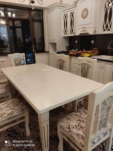 ствол грецкого ореха в Кыргызстан: Стол кухонный и гостевой погонный метр от 5000 сом белый цвет . Оре