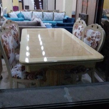 Bakı şəhərində Eziz müşteriler masa ve oturacaq destimiz 6 neferlik sifarişle