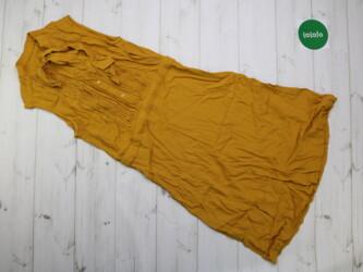 Женское платье с бантом горчичного цвета Длина: 101 см Пог: 35 см Пот