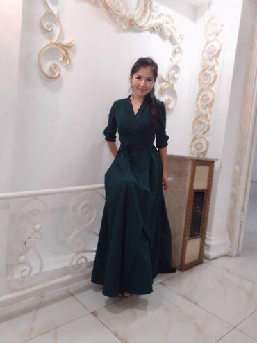 вечернее зеленое платье в Кыргызстан: Продаю платье материал лучший,свет богатый смотрится