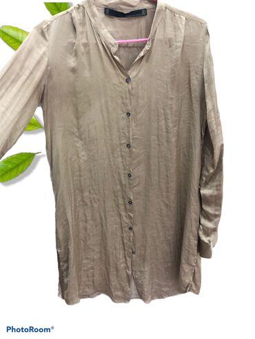 рубашка от mexx в Кыргызстан: Базовая блузка под любой образ, удлиненная, можно как накидку не засте