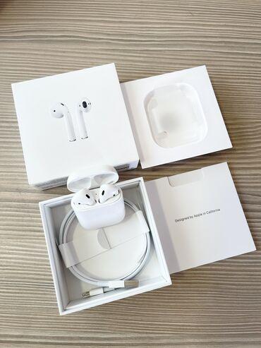 2598 объявлений   НАУШНИКИ: Продаю Apple AirPods-2 100% оригинал можем проверить, в отличном сост