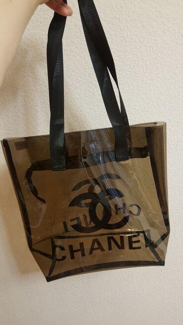 Пластиковый прозрачный шоппер сумка сhanel на замке НОВЫЙ размер 35см