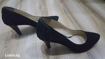 замшевые туфли вечерние в Кыргызстан: Черные замшевые кожаные туфли. размер 36. Производство Турции