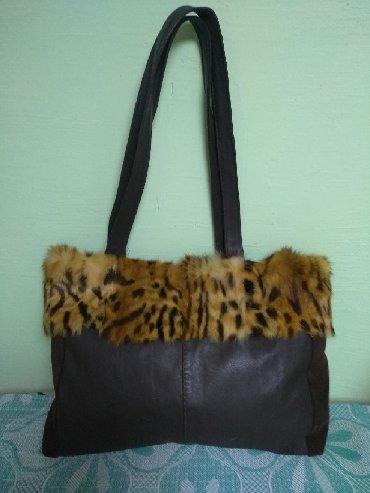 сумки огромный выбор в Кыргызстан: Сумка, натуральные мех и кожа. Сумка вместительная, но не огромная
