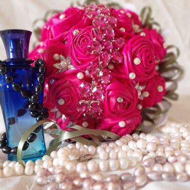Букет невесты - Кыргызстан: Свадебный букеты очень красивые из атласных лент ручная работа