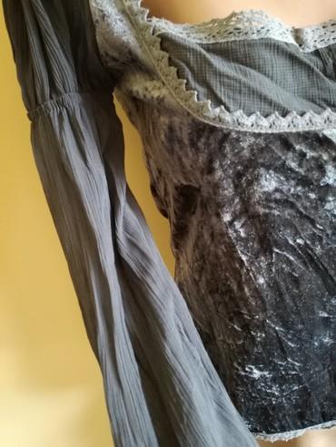 Bluza siva sa plisom. Vel S/M. - Bajina Basta