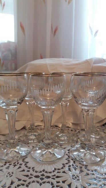 фужеры стекло в Кыргызстан: Фужеры 6 шт.чешское стекло