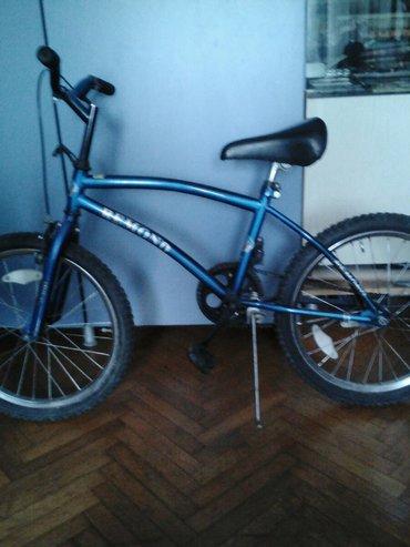 Bicikla - Srbija: Teget plava decija bicikla za uzrast do 10god vrlo ocuvana