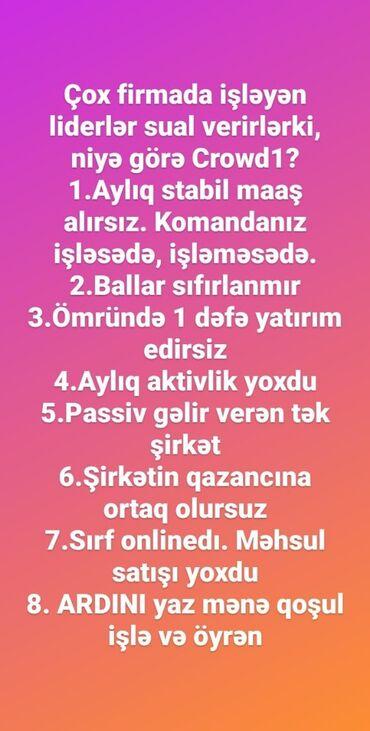 daye isi elanlari - Azərbaycan: Marketoloq. İstənilən yaş. Natamam iş günü