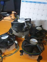 Системы охлаждения в Кыргызстан: Кулеры INTEL ORIGINAL 775 сокет. В очень хорошем состоянии б/у. 4 pin
