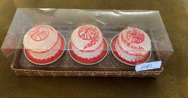 Свечи - Кыргызстан: Свечки сувенирные в виде юрты, в комплекте 3 шт размер коробочки 13