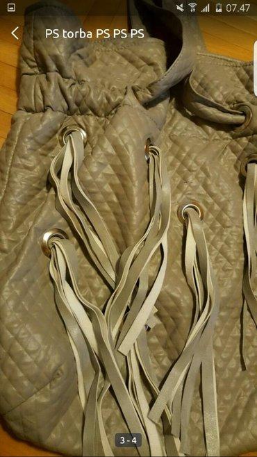 Tašne - Upotrebljen - Pozarevac: PS siva srebrna torba