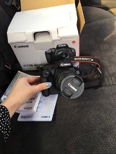 ретро фотоаппарат зенит в Кыргызстан: Продаю фотоаппарат canon EOS 4000D 15-55mm. Новая. Коробка, зарядка в