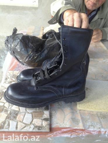 Ботинки военные мужские,чёрного в Bakı