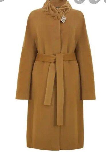 шерстяные одеяла в Кыргызстан: Шерстяные пальто каричневый размер 44-46