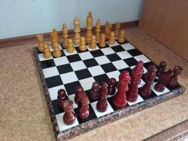 прокат платьев больших размеров бишкек в Кыргызстан: Продаю шахматы, шахматы большого размера, доска каменная (мрамор)