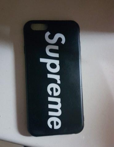 Maska crne supreme za iphone6 i iPhone 6+. Crna sa belim slovima - Belgrade