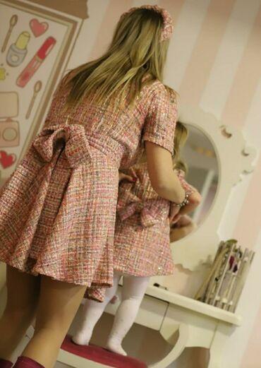 Haljine za mamu i cerku kupljene kod nase dizajnerke Klarine ( imate