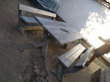 Стол с лавочками из дерева 250х150. Все вопросы только по телефону