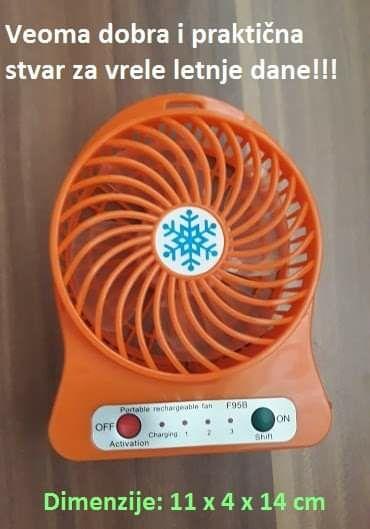 Ostalo | Paracin: Mini ventilatori sa punjivom baterijom CENA:1300 din Model: c-11223