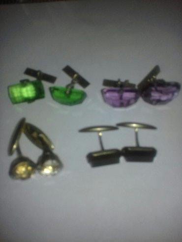 Старинные серебряные запонки 875 проба