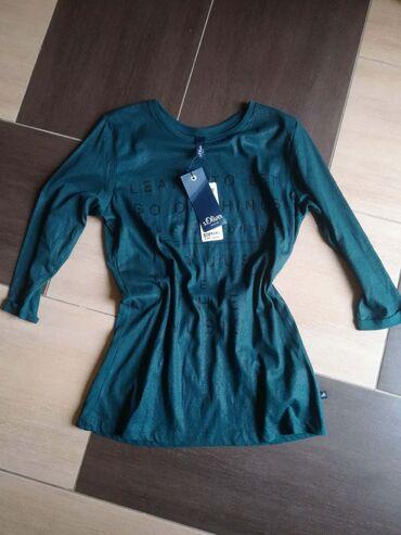 Original S`Oliver denim zenska bluza sa neznim sjajem na prednjoj