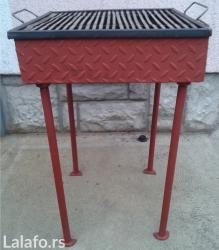 Prodajem roštilj sa slike,montažno-demontažni,rešetka prohromska - Nova Pazova