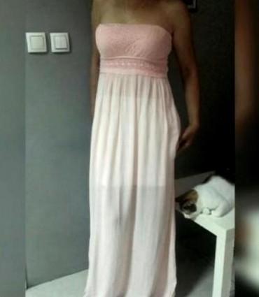 Divna nova duga haljina pamuk Nežno roze boje Povoljno - Batajnica