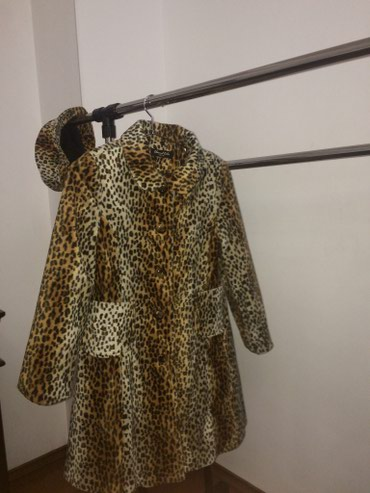 Леопардовое пальто,размер S ,б/у,головной убор в комплекте в Бишкек