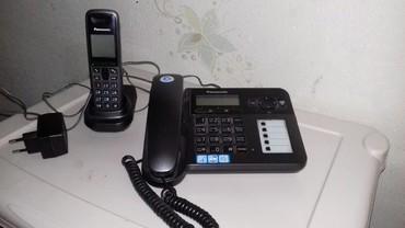 Телефон - Кыргызстан: Телефон Panasonic 2/1с радио трубкой рабочий в хорошем состоянии
